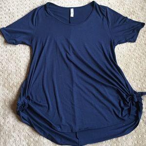 Lularoe Large navy blue shirt